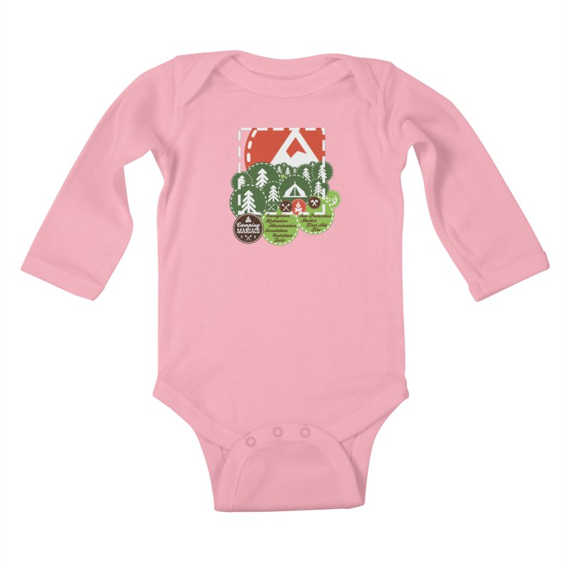 Camping Maniacs - Camp Kids Baby Longsleeve Bodysuit by Casa Norte's Artist Shop