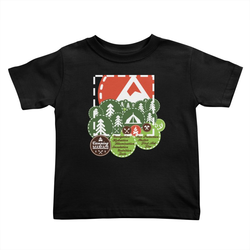 Camping Maniacs - Camp Kids Toddler T-Shirt by CasaNorte's Artist Shop