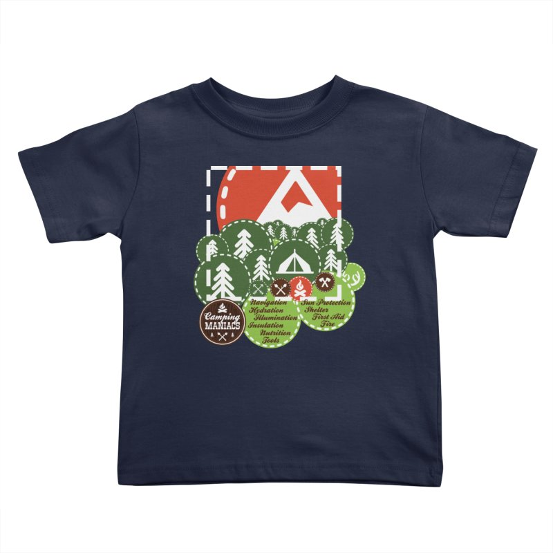 Camping Maniacs - Camp Kids Toddler T-Shirt by Casa Norte's Artist Shop