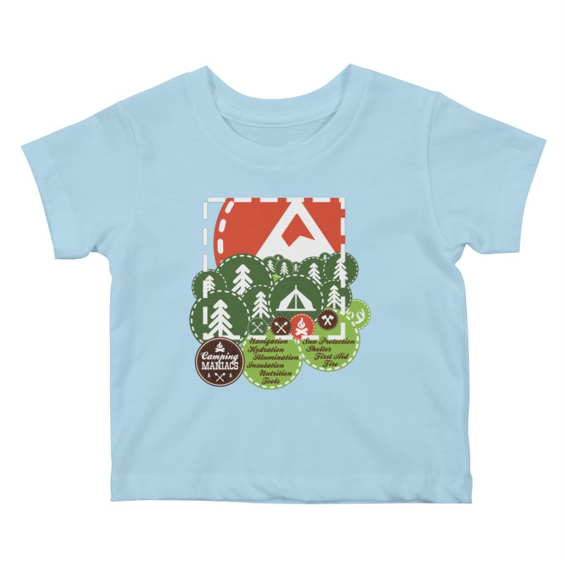 Camping Maniacs - Camp Kids Baby T-Shirt by Casa Norte's Artist Shop