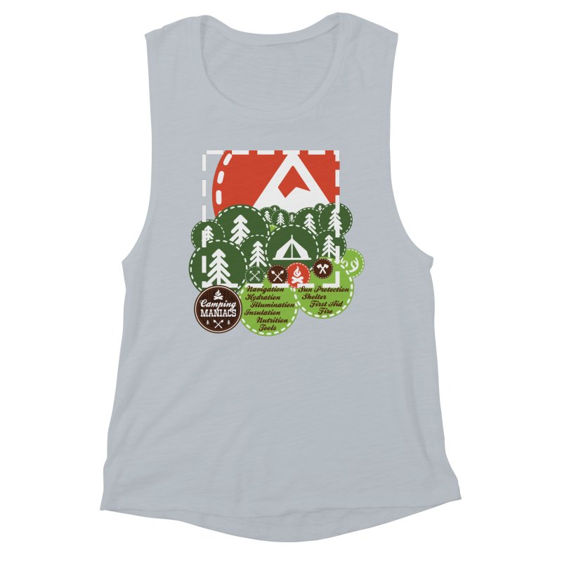 Camping Maniacs - Camp Women's Muscle Tank by Casa Norte's Artist Shop
