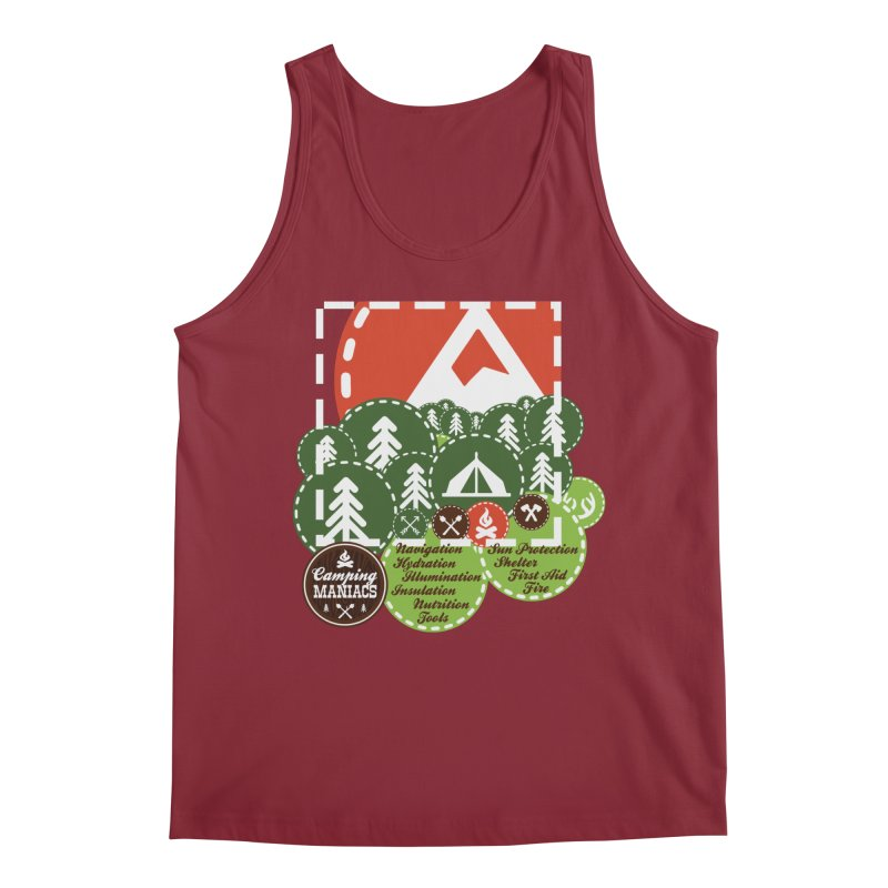 Camping Maniacs - Camp Men's Tank by Casa Norte's Artist Shop