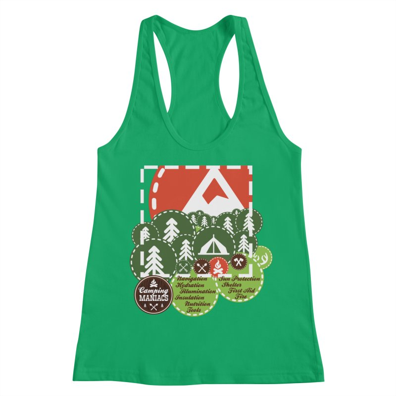 Camping Maniacs - Camp Women's Racerback Tank by Casa Norte's Artist Shop