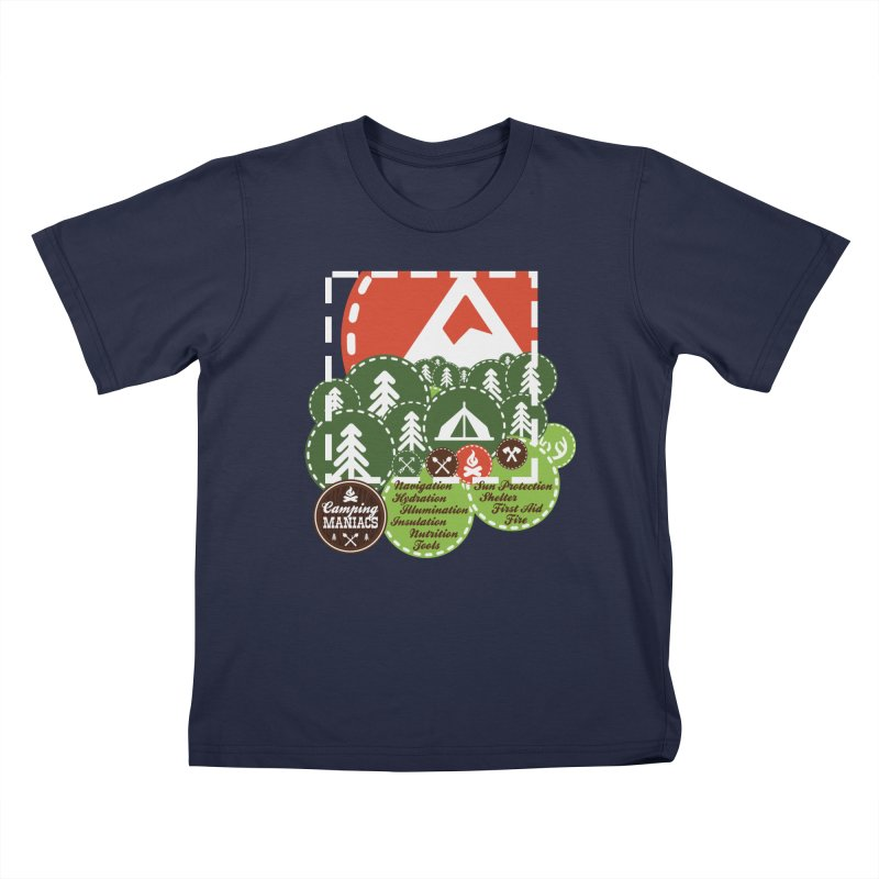 Camping Maniacs - Camp Kids T-Shirt by Casa Norte's Artist Shop