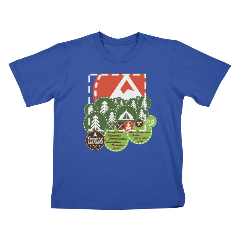 Camping Maniacs - Camp Kids T-Shirt by Casa Norte's Artist Shop