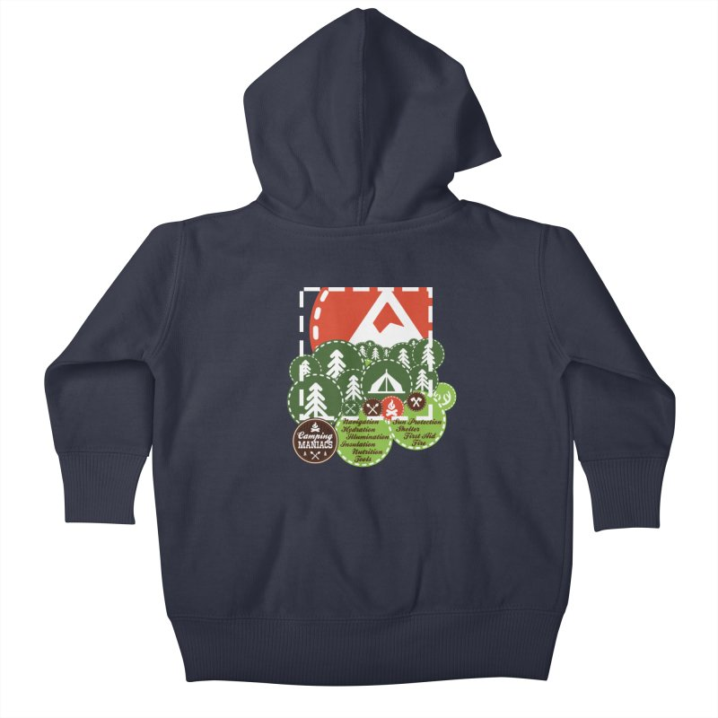 Camping Maniacs - Camp Kids Baby Zip-Up Hoody by Casa Norte's Artist Shop