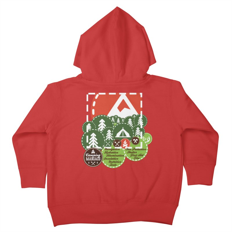 Camping Maniacs - Camp Kids Toddler Zip-Up Hoody by Casa Norte's Artist Shop