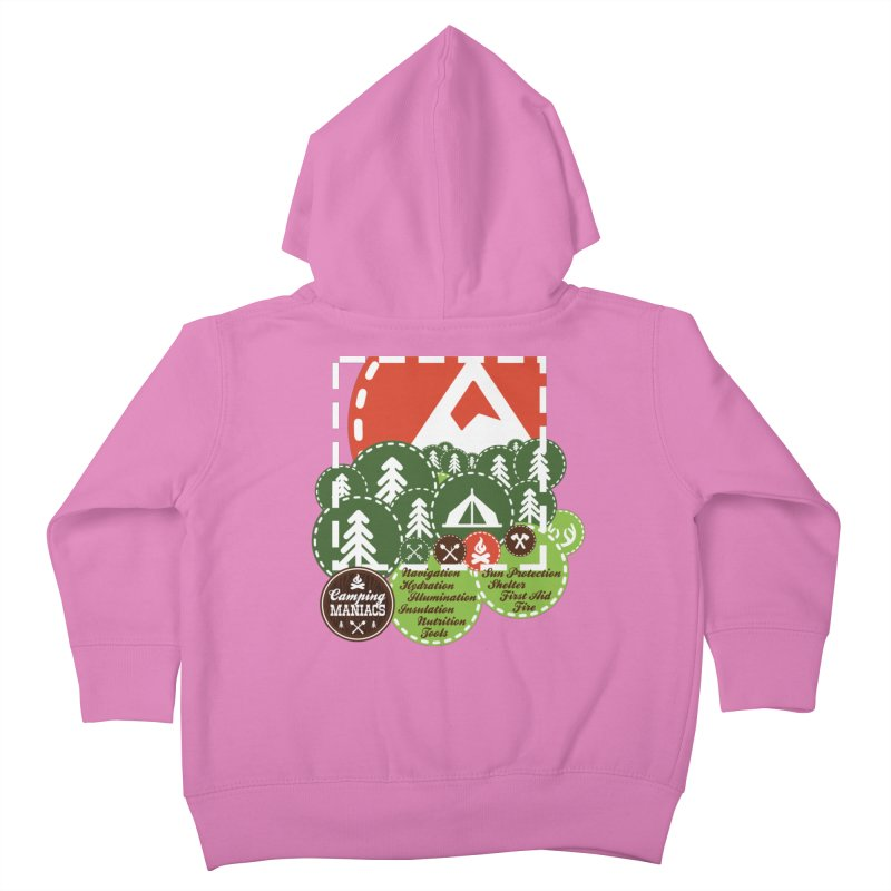 Camping Maniacs - Camp Kids Toddler Zip-Up Hoody by CasaNorte's Artist Shop
