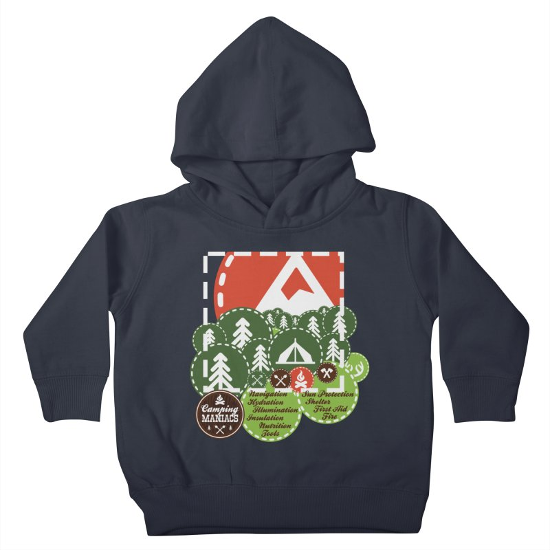 Camping Maniacs - Camp Kids Toddler Pullover Hoody by Casa Norte's Artist Shop