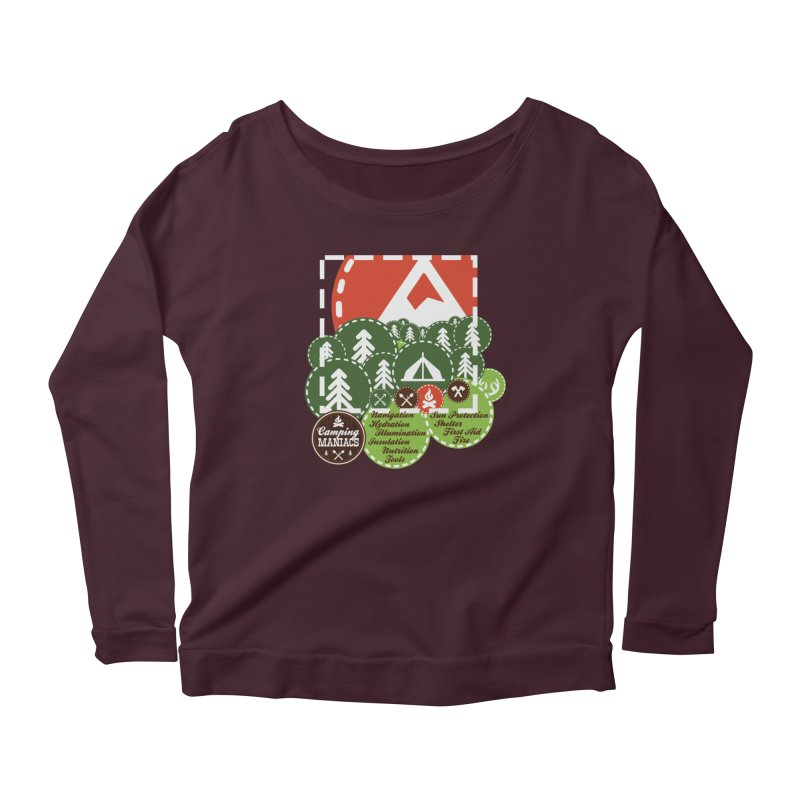 Camping Maniacs - Camp Women's Longsleeve T-Shirt by Casa Norte's Artist Shop