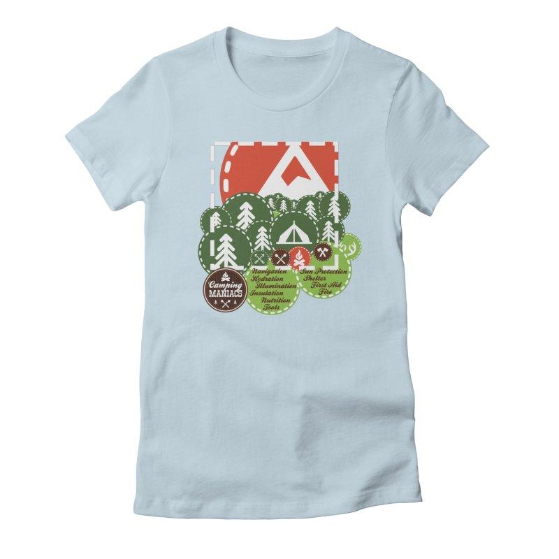 Camping Maniacs - Camp Women's T-Shirt by Casa Norte's Artist Shop