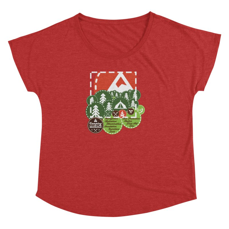 Camping Maniacs - Camp Women's Dolman Scoop Neck by Casa Norte's Artist Shop