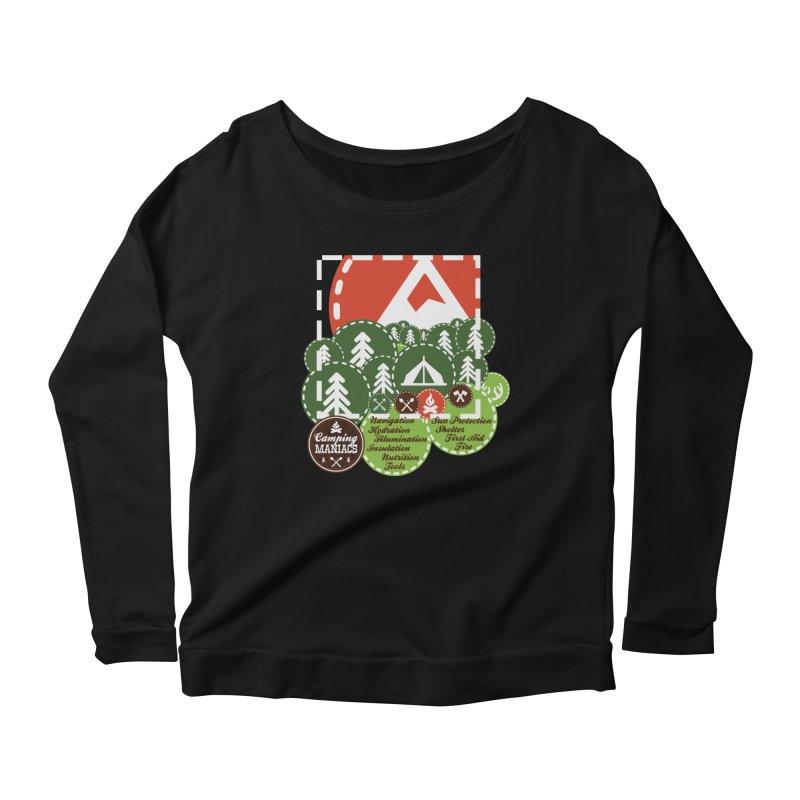 Camping Maniacs - Camp Women's Scoop Neck Longsleeve T-Shirt by Casa Norte's Artist Shop