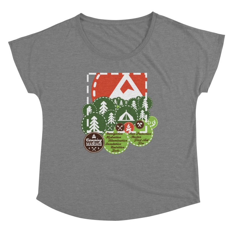 Camping Maniacs - Camp Women's Scoop Neck by Casa Norte's Artist Shop