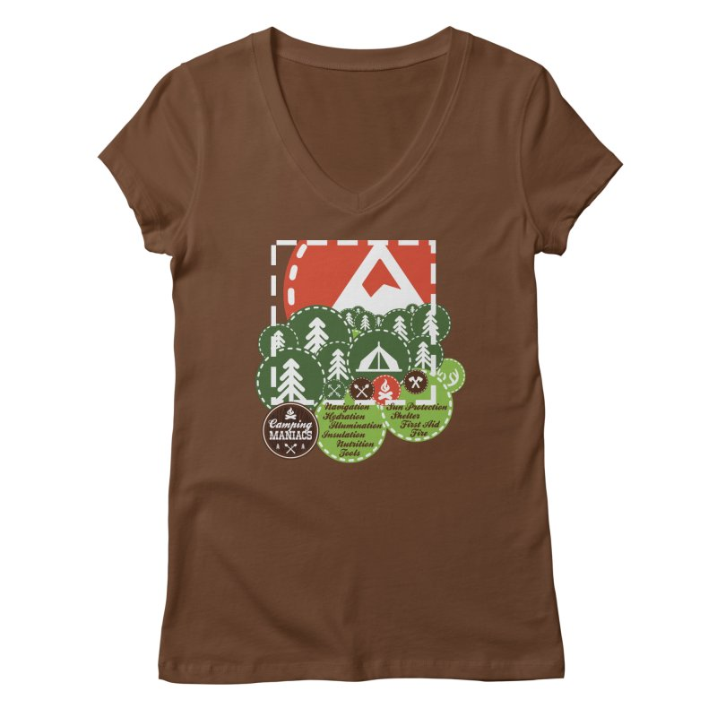 Camping Maniacs - Camp Women's Regular V-Neck by CasaNorte's Artist Shop