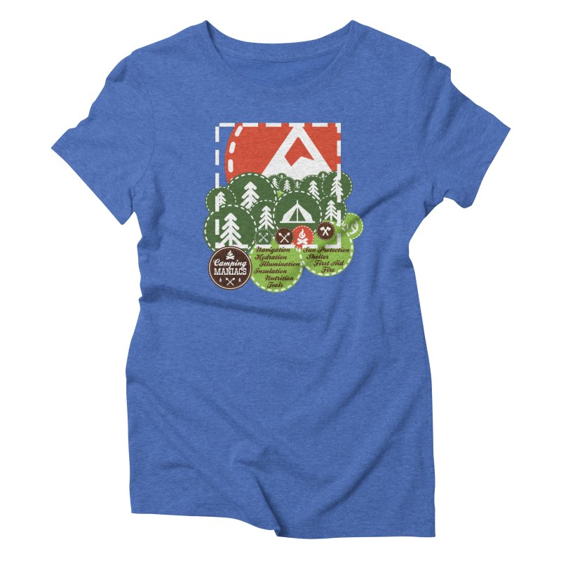 Camping Maniacs - Camp Women's Triblend T-Shirt by Casa Norte's Artist Shop