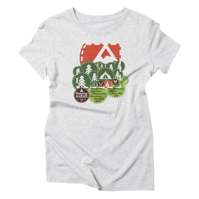Camping Maniacs - Camp Women's Triblend T-Shirt by Casa Norte's Artist Shop