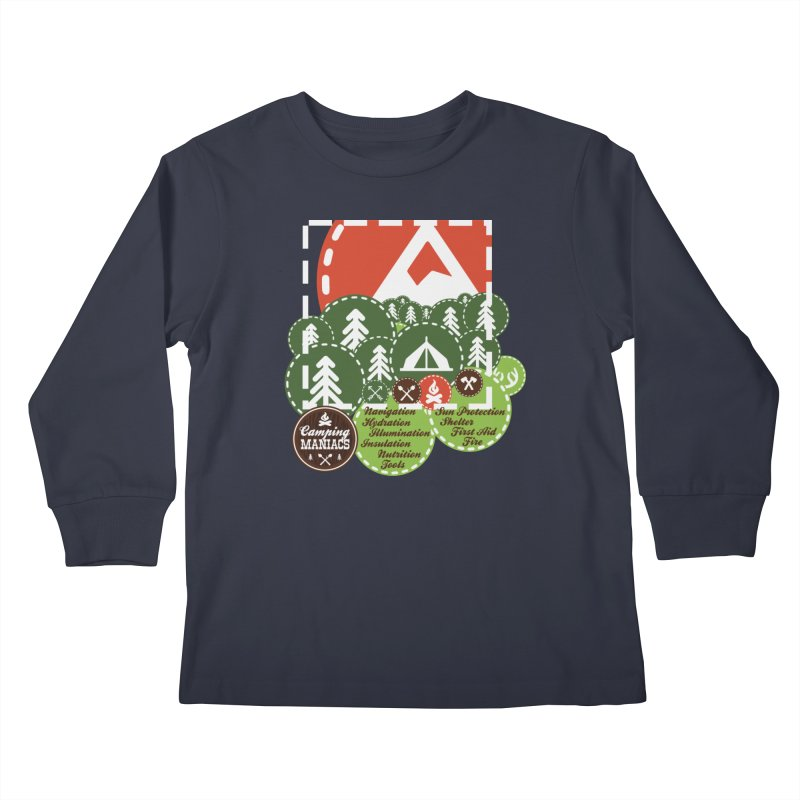 Camping Maniacs - Camp Kids Longsleeve T-Shirt by Casa Norte's Artist Shop