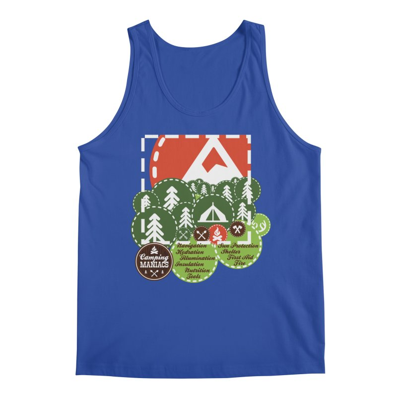 Camping Maniacs - Camp Men's Regular Tank by Casa Norte's Artist Shop