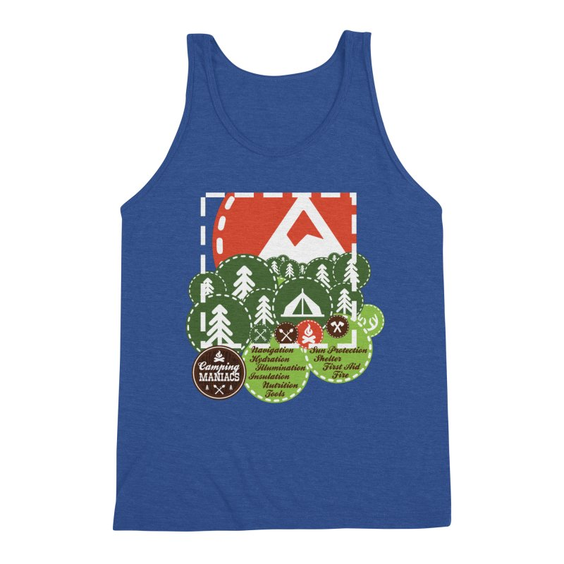 Camping Maniacs - Camp Men's Triblend Tank by Casa Norte's Artist Shop