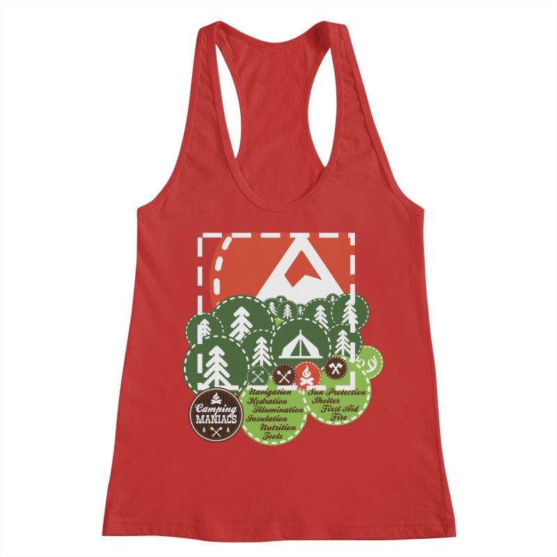 Camping Maniacs - Camp Women's Racerback Tank by Casa Norte's Artist Shop