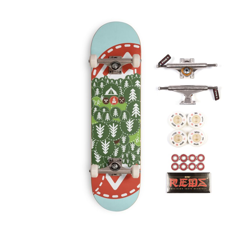 Camping Maniacs - Camp Accessories Complete - Pro Skateboard by Casa Norte's Artist Shop