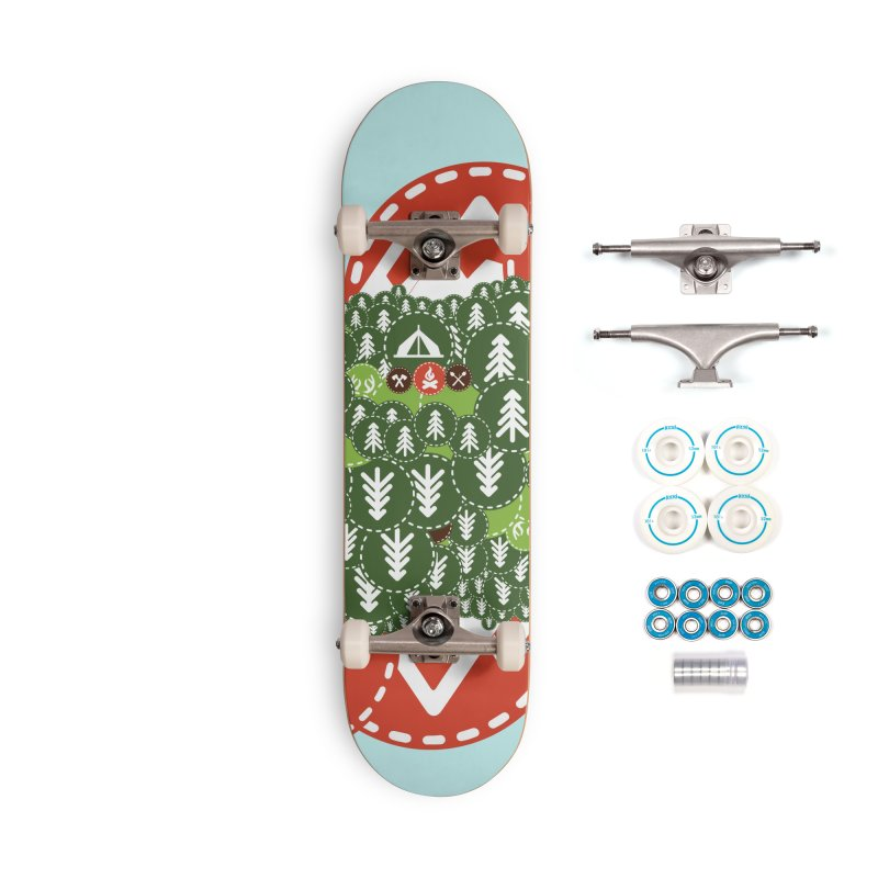 Camping Maniacs - Camp Accessories Complete - Basic Skateboard by Casa Norte's Artist Shop