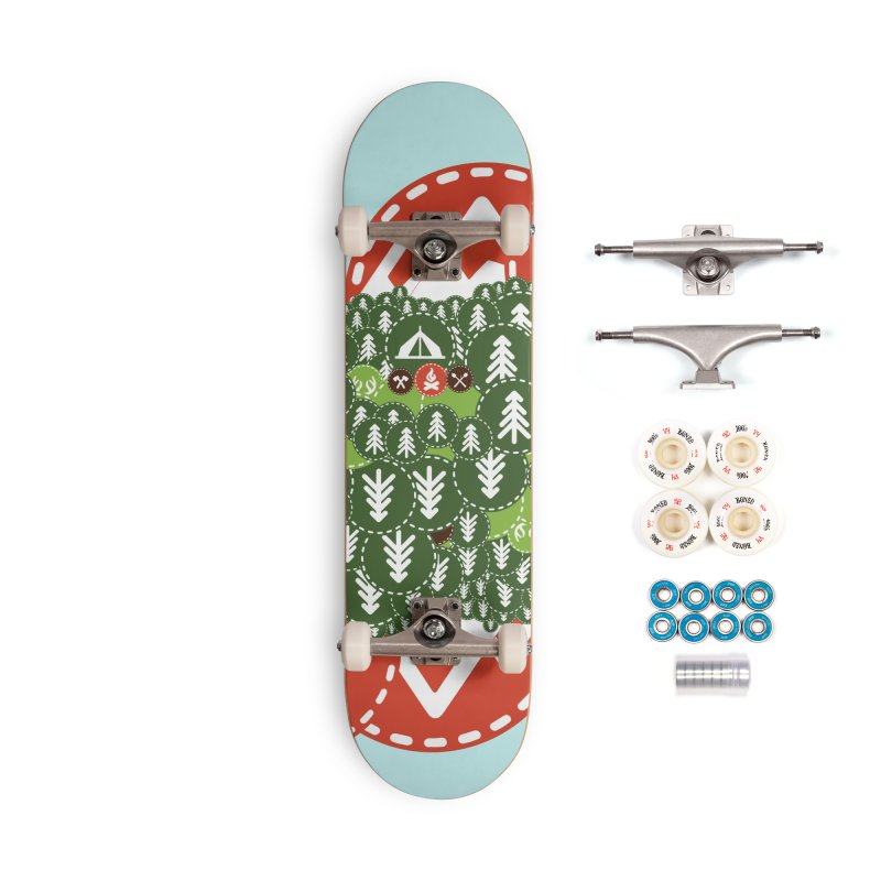 Camping Maniacs - Camp Accessories Complete - Premium Skateboard by Casa Norte's Artist Shop