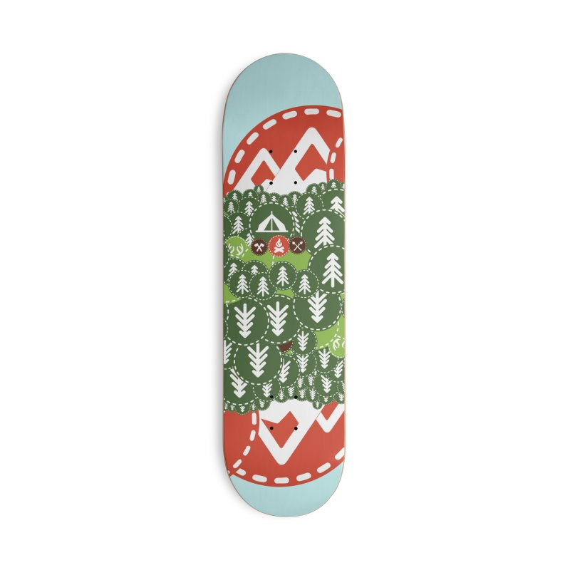 Camping Maniacs - Camp Accessories Skateboard by Casa Norte's Artist Shop