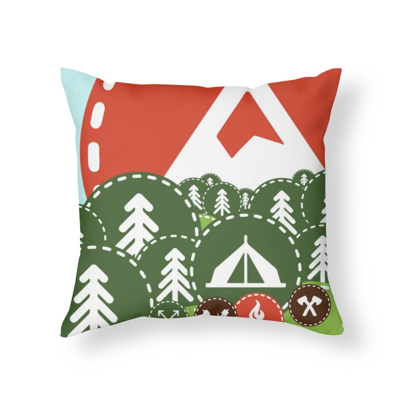 Camping Maniacs - Camp Home Throw Pillow by Casa Norte's Artist Shop