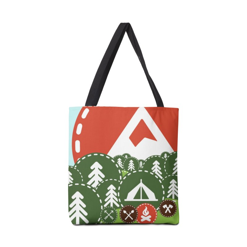 Camping Maniacs - Camp Accessories Tote Bag Bag by Casa Norte's Artist Shop