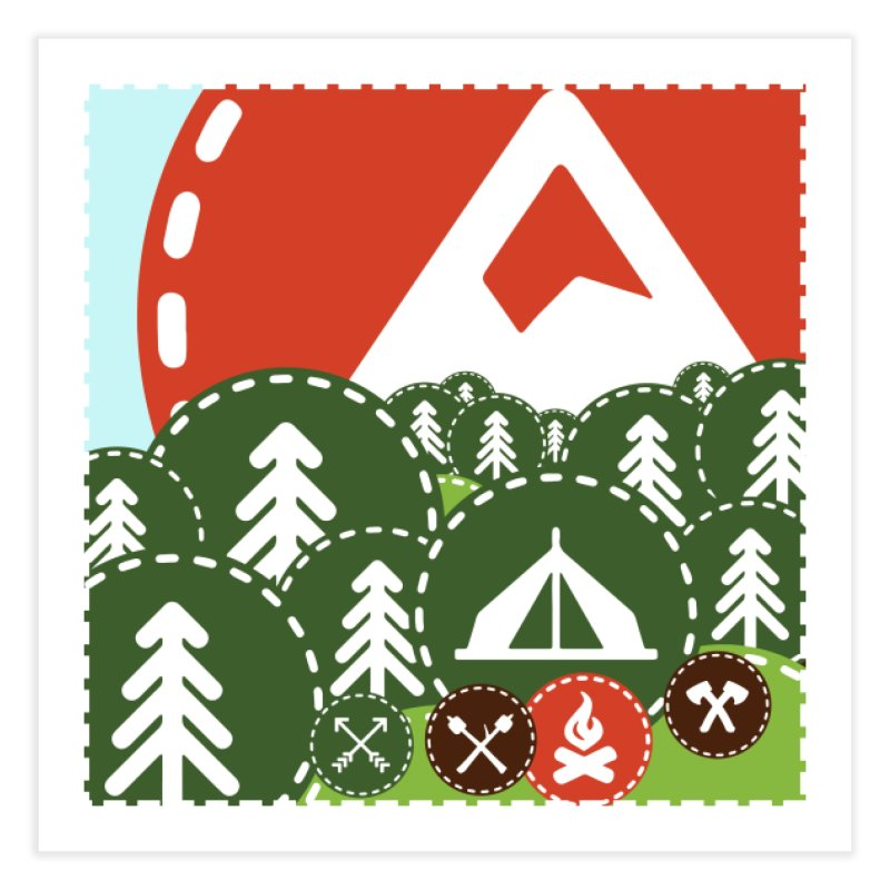 Camping Maniacs - Camp Home Fine Art Print by Casa Norte's Artist Shop