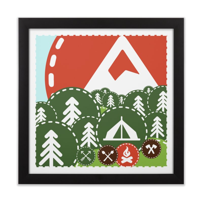 Camping Maniacs - Camp Home Framed Fine Art Print by Casa Norte's Artist Shop