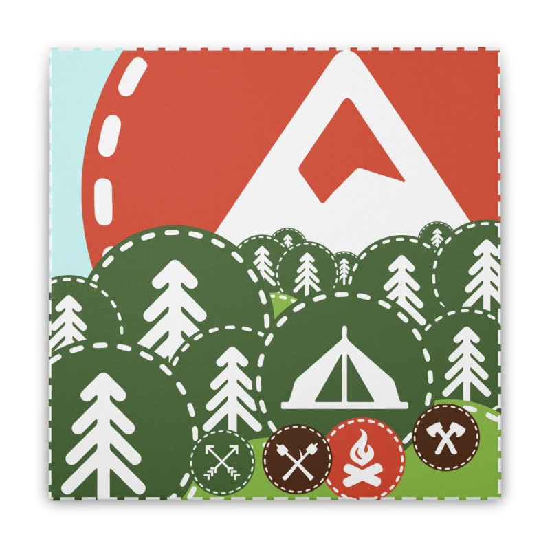 Camping Maniacs - Camp Home Stretched Canvas by Casa Norte's Artist Shop