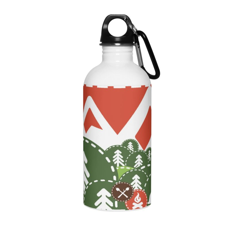 Camping Maniacs - Camp Accessories Water Bottle by Casa Norte's Artist Shop