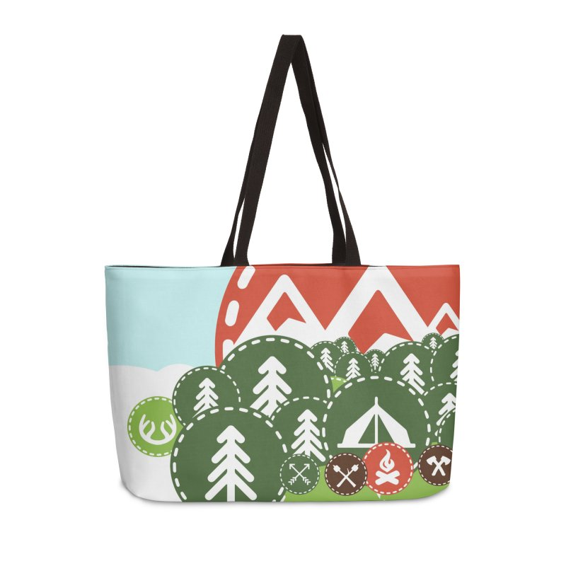 Camping Maniacs - Camp Accessories Weekender Bag Bag by Casa Norte's Artist Shop