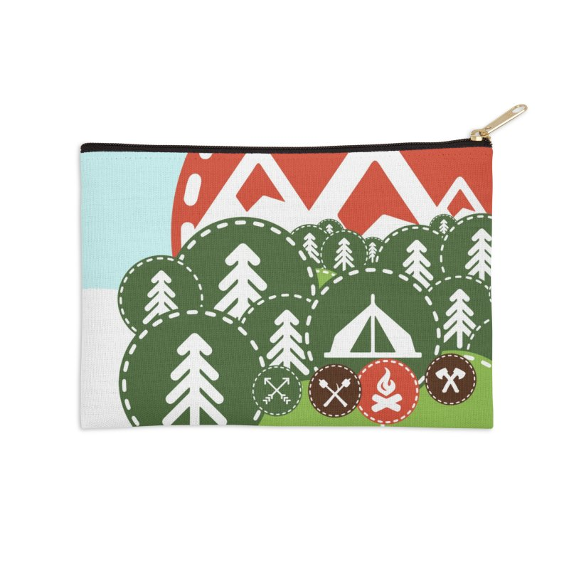 Camping Maniacs - Camp Accessories Zip Pouch by CasaNorte's Artist Shop