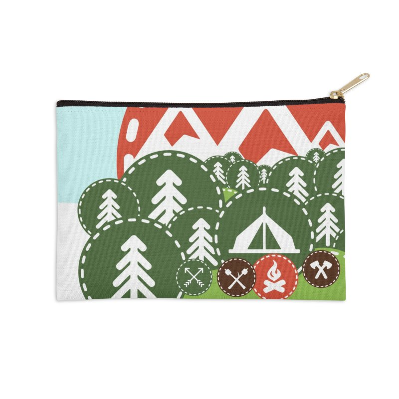 Camping Maniacs - Camp Accessories Zip Pouch by Casa Norte's Artist Shop