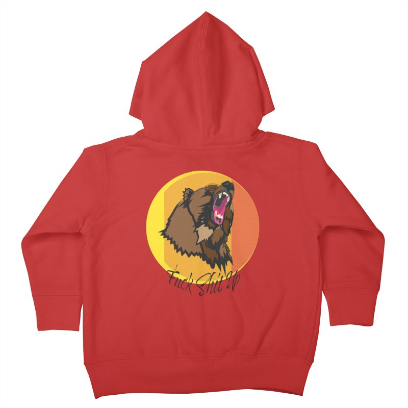 F it bear (dirty) Kids Toddler Zip-Up Hoody by Casper Sheets's Art and assorted oddities