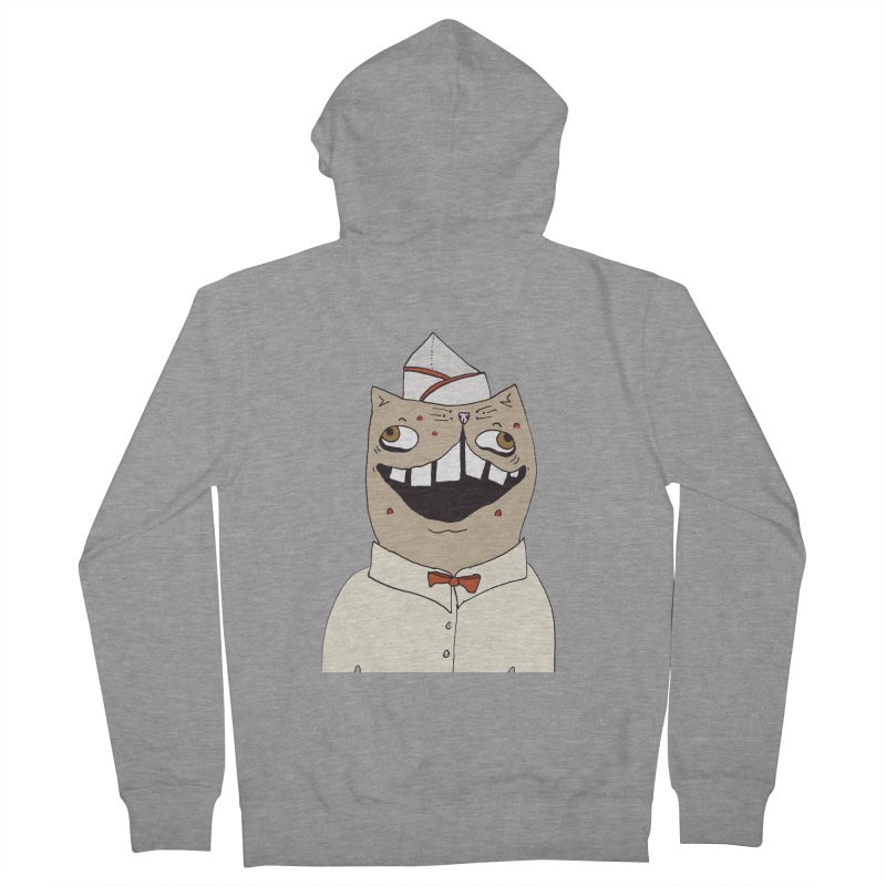Ronald Mckitty Men's French Terry Zip-Up Hoody by CATCARYEG