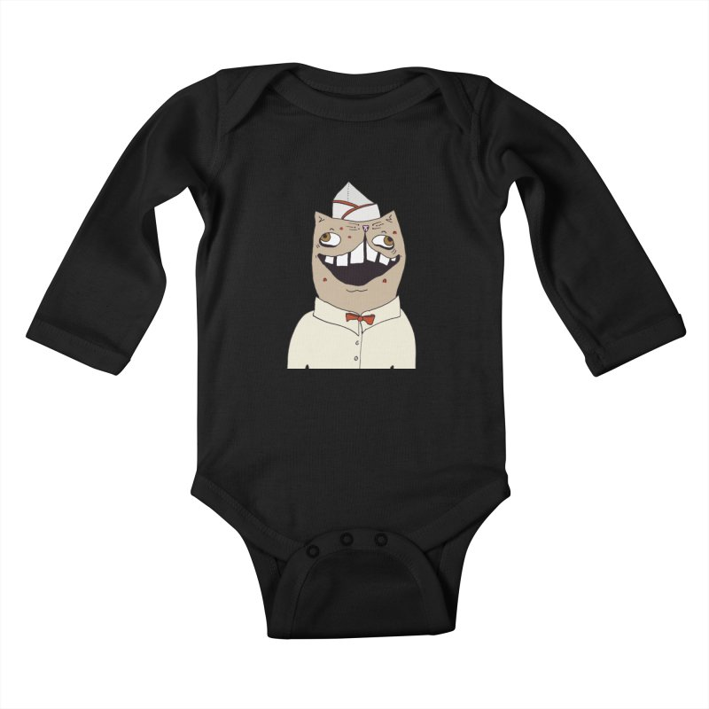 Ronald Mckitty Kids Baby Longsleeve Bodysuit by CATCARYEG
