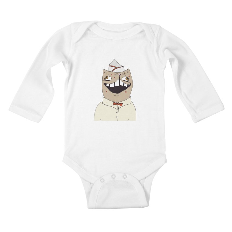 Ronald Mckitty Kids Baby Longsleeve Bodysuit by CATCARYEG