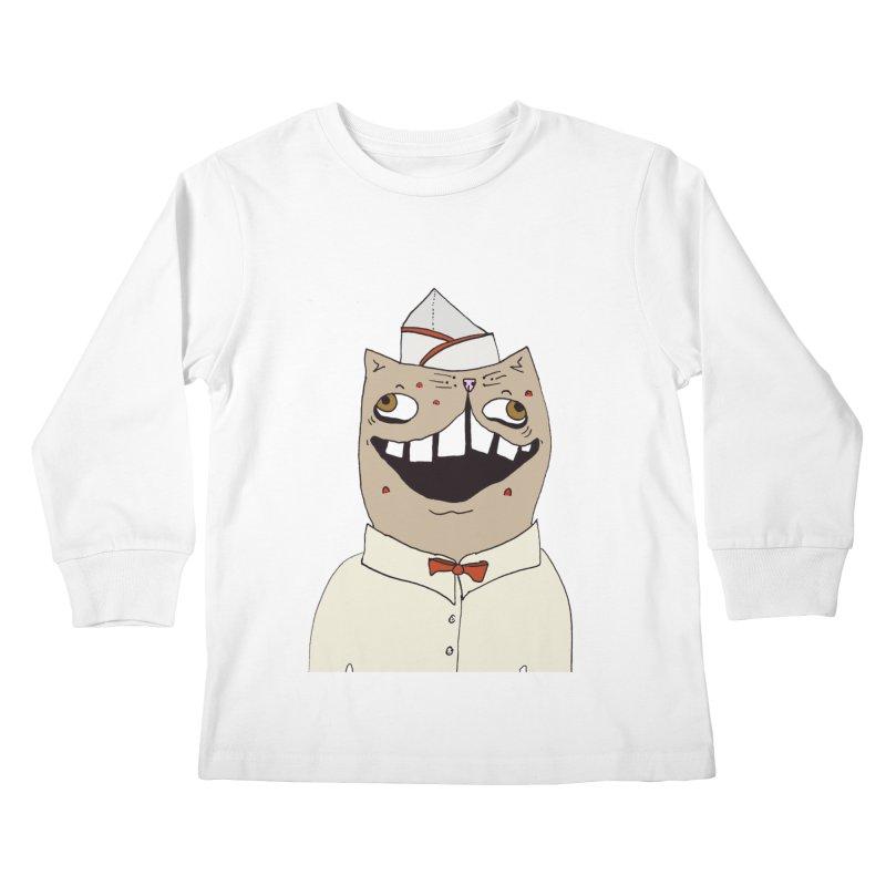Ronald Mckitty Kids Longsleeve T-Shirt by CATCARYEG