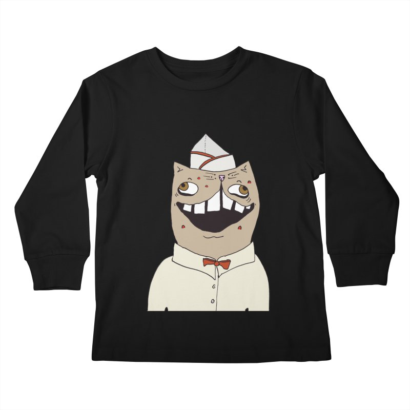 Ronald Mckitty Kids Longsleeve T-Shirt by CATCARYEG