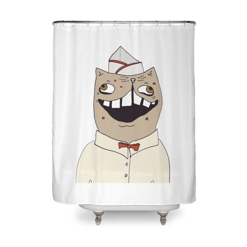 Ronald Mckitty Home Shower Curtain by CATCARYEG