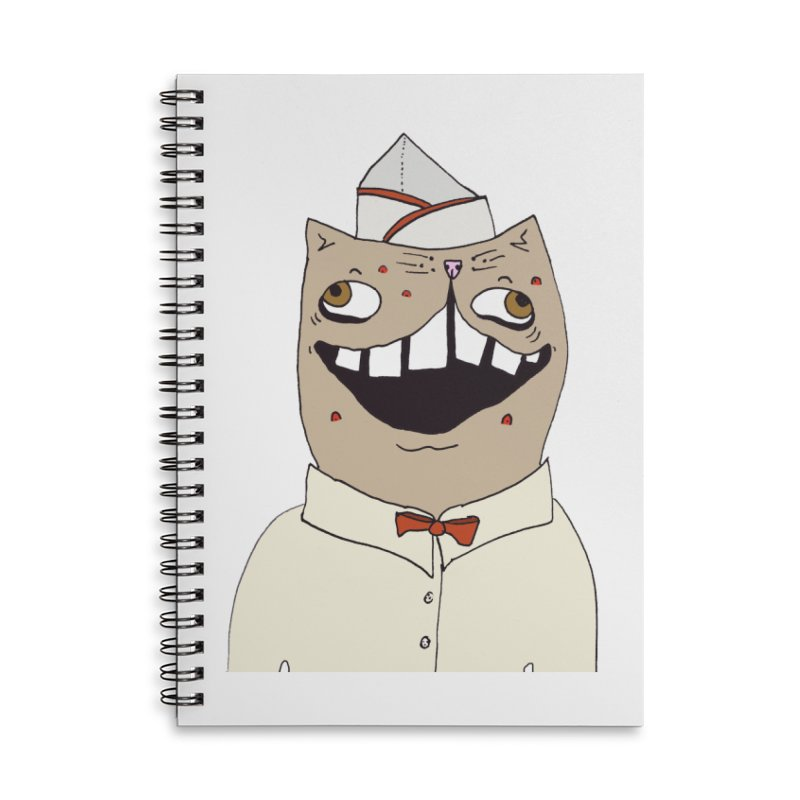 Ronald Mckitty Accessories Lined Spiral Notebook by CATCARYEG