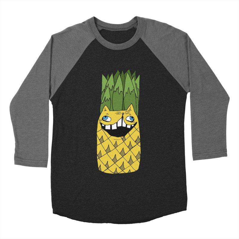 Meowapple Men's Baseball Triblend Longsleeve T-Shirt by CATCARYEG