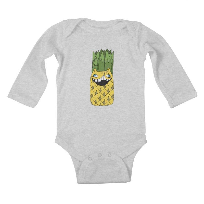 Meowapple Kids Baby Longsleeve Bodysuit by CATCARYEG