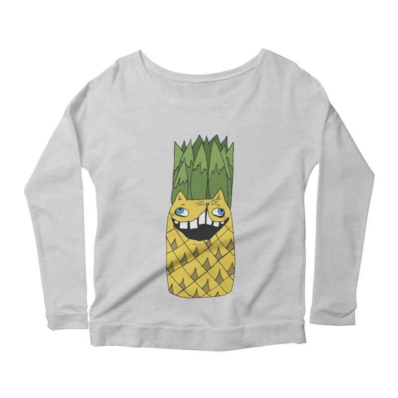Meowapple Women's Scoop Neck Longsleeve T-Shirt by CATCARYEG