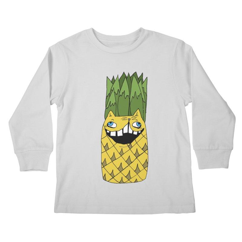 Meowapple Kids Longsleeve T-Shirt by CATCARYEG